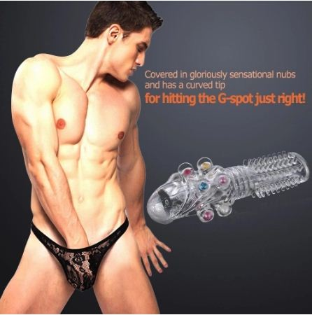 Beaded Crystal Penis Extender Sleeve For Men | Sex Toys | Sex Toys In India | Adulttoys-india